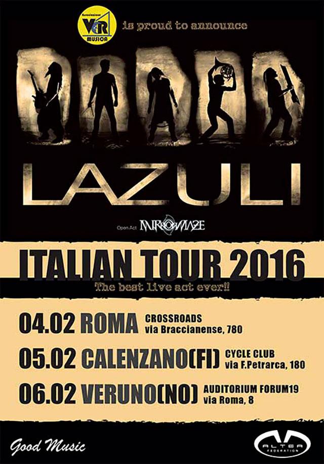 Lazuli Italian Tour